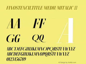 FinoStencilTitle-MediumItalic