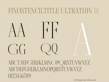 FinoStencilTitle-UltraThin