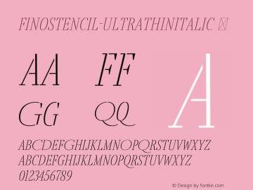 FinoStencil-UltraThinItalic