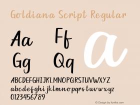 Goldiana Script