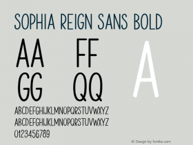 Sophia Reign Sans