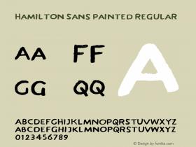 Hamilton Sans Painted