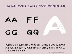 Hamilton Sans SVG