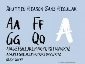 Shutten Reason Sans