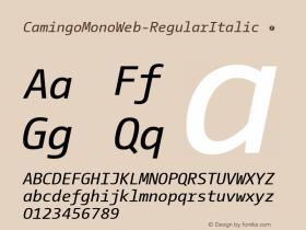 CamingoMonoWeb-RegularItalic