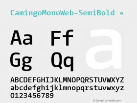 CamingoMonoWeb-SemiBold