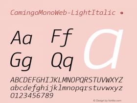 CamingoMonoWeb-LightItalic