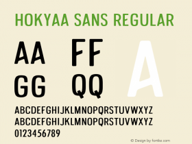 Hokyaa Sans
