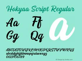 Hokyaa Script