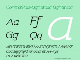 ContraSlab-LightItalic