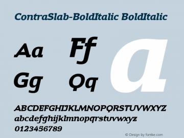 ContraSlab-BoldItalic