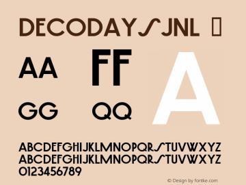 DecoDaysJNL