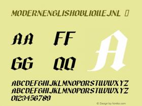 ModernEnglishObliqueJNL