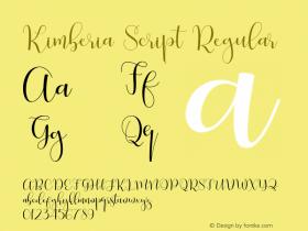 Kimberia Script