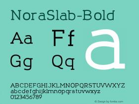 NoraSlab-Bold