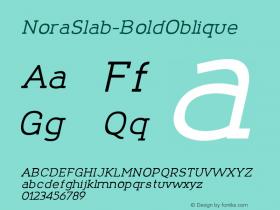 NoraSlab-BoldOblique