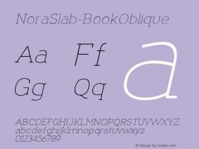 NoraSlab-BookOblique
