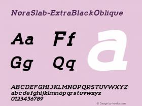 NoraSlab-ExtraBlackOblique