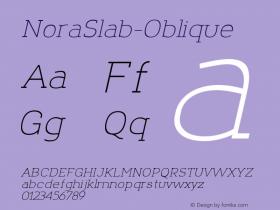 NoraSlab-Oblique