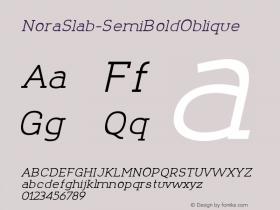 NoraSlab-SemiBoldOblique