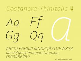 Costanera-ThinItalic