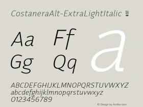 CostaneraAlt-ExtraLightItalic