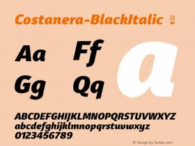 Costanera-BlackItalic