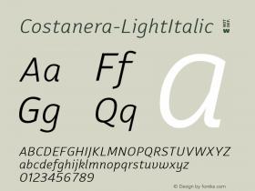 Costanera-LightItalic