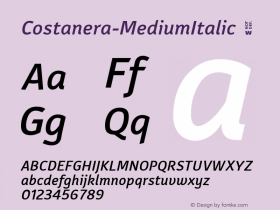 Costanera-MediumItalic