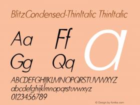 BlitzCondensed-ThinItalic