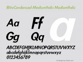 BlitzCondensed-MediumItalic
