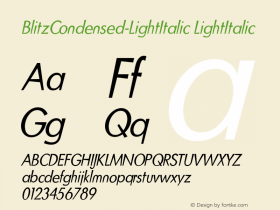 BlitzCondensed-LightItalic