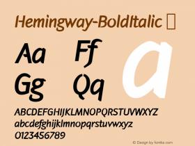 Hemingway-BoldItalic