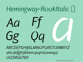 Hemingway-BookItalic