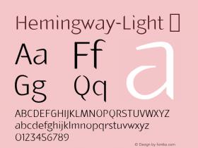 Hemingway-Light