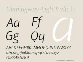 Hemingway-LightItalic