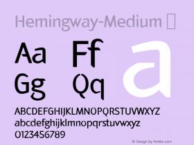 Hemingway-Medium