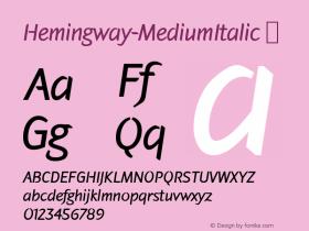Hemingway-MediumItalic