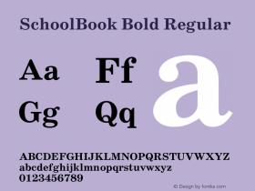 Schoolbook Bold