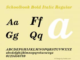 Schoolbook Bold Italic