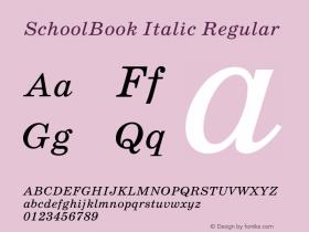 Schoolbook Italic