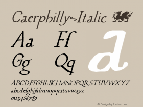 Caerphilly-Italic