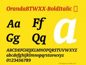 OrandaBTWXX-BoldItalic