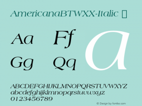 AmericanaBTWXX-Italic