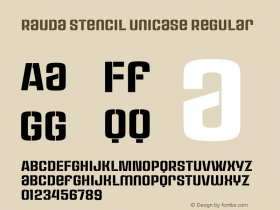 Rauda Stencil Unicase