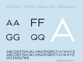 Distinct Style Sans Light