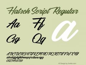 Hatsch Script