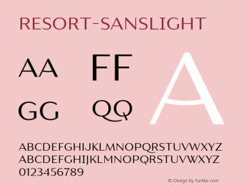 Resort-SansLight