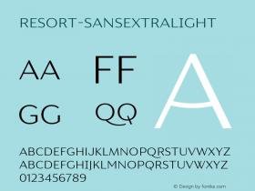 Resort-SansExtraLight