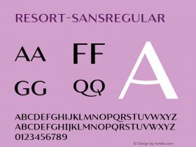 Resort-SansRegular